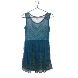 Free People Sheer Beaded Layering Dress